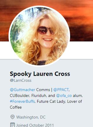 Lauren Cross Guttmacher Communications former Planned Parenthood staffer