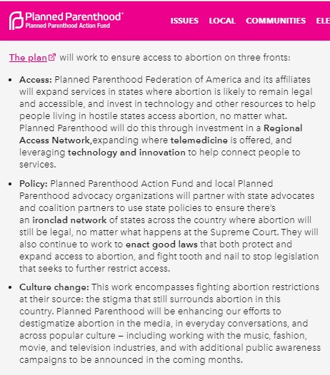 Image: Planned Parenthood 2019 plan to expand abortion