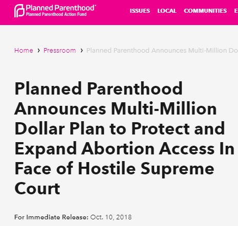 Image: Planned Parenthood plan to expand abortion 2019 (Image: screen from PP Action Fund website)