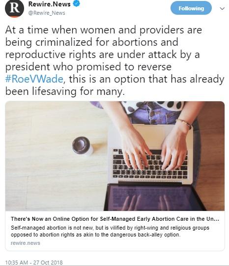 Image: Rewire News on self managed abortion