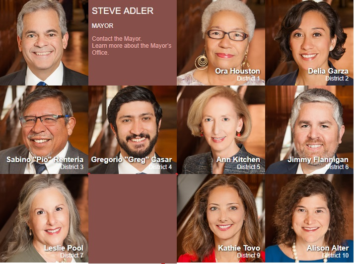 Image:Austin Council members who votes to lease city building to Planned Parenthood (Image: 2018 Austin City Council members)