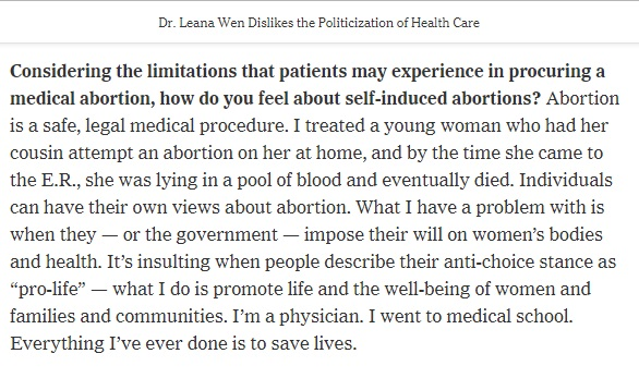 Image: New York Times asks Planned Parenthood prez about self-managed abortion