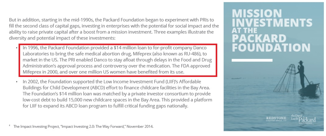 Image: Packard Foundation invested in abortion pill manufacturer DANCO (Image: David and Lucile Packard Foundation )