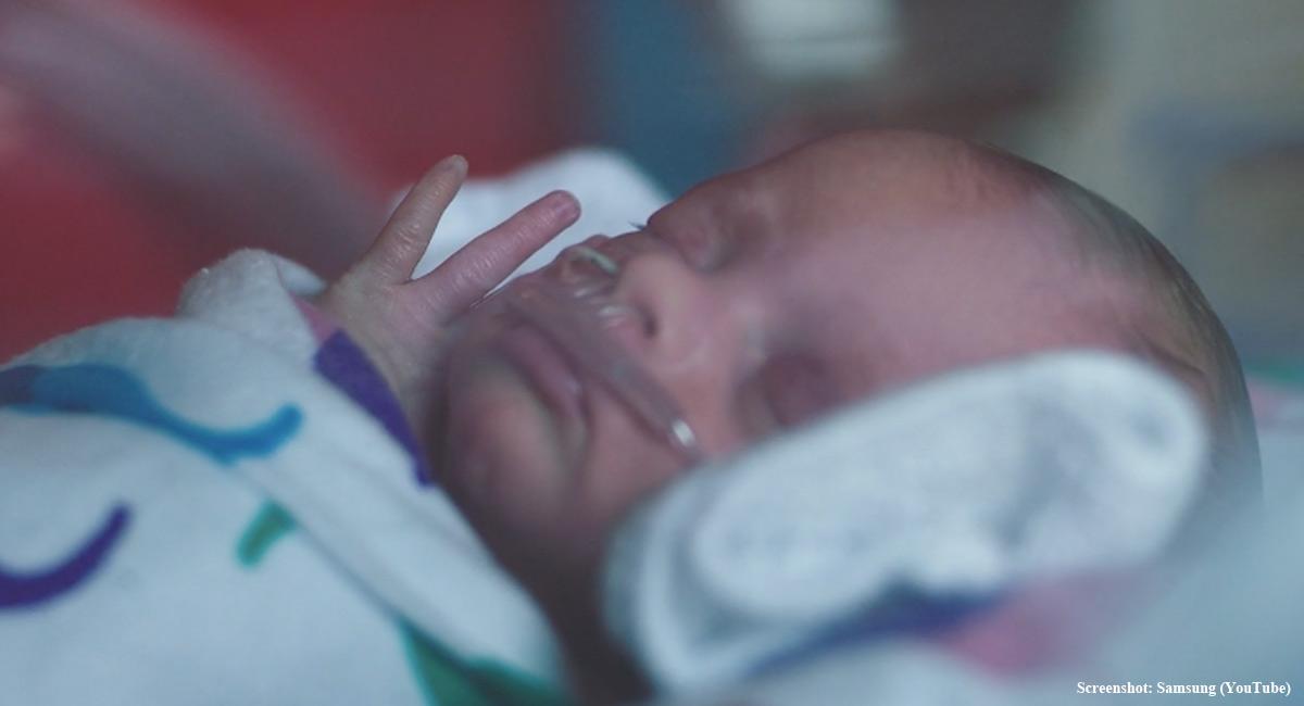 premature baby Samsung ad