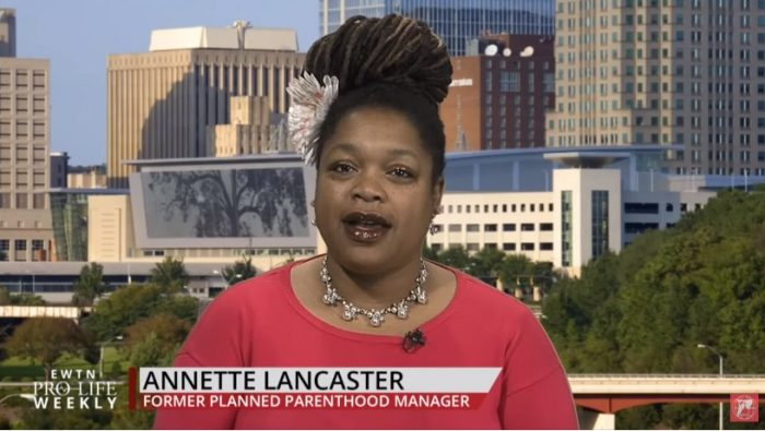 Image: Annette Lancaster former Planned Parenthood manager (Image: EWTN's Pro-life Weekly)