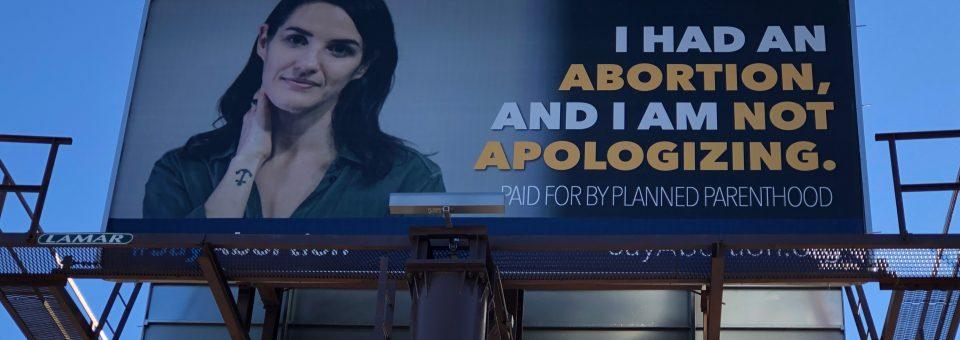 Planned Parenthood billboard Iowa