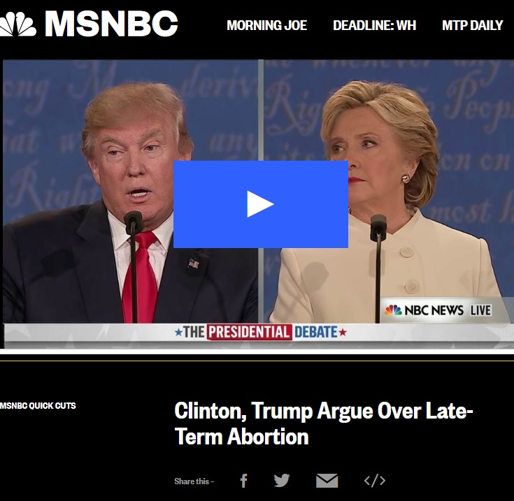 Image: MSNBC 2016 uses term late term abortion