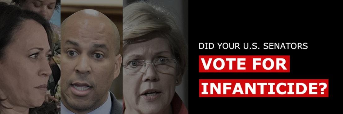 Senators vote for infanticide Born Alive Protections