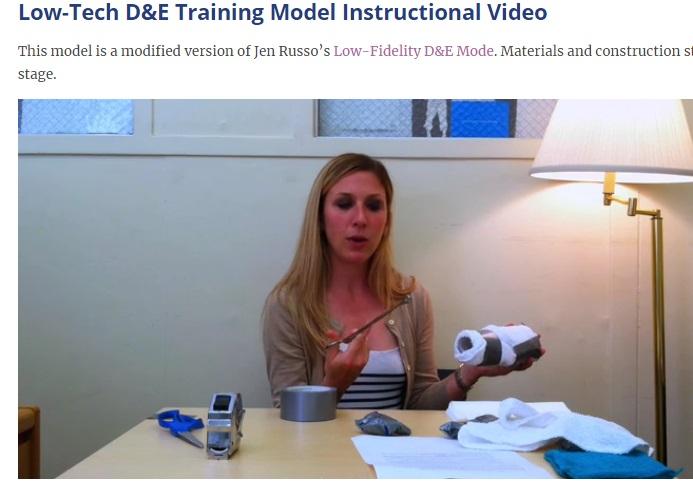 Dr Carolyn Payne Low Tech D and E training module