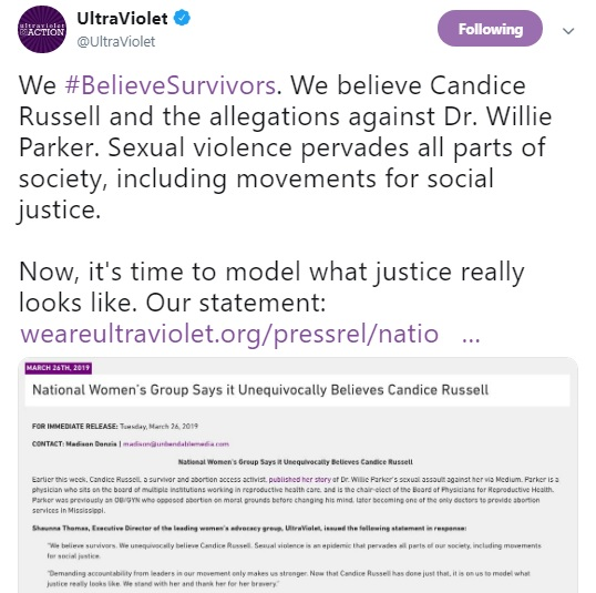 Image: Ultra Violent on Willie Parker Sexual Misconduct Charges (Image Twitter)