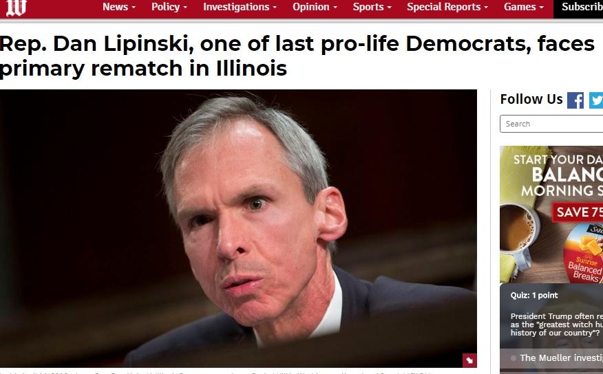 Dan Lipinski prolife Democrat Washington Times