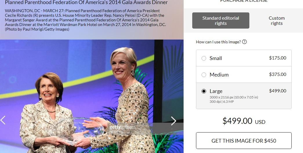 Pelosi receives Margaret Sanger Award 2014 Getty Images