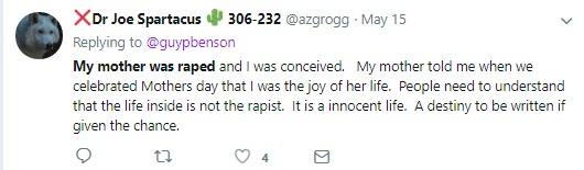 Rape and Abortion Tweet 16