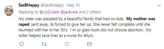 Rape and Abortion Tweet 19