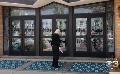 Pennsylvania Catholic church vandalized with '#Prochoice' graffiti