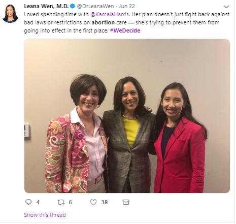 Image: Kamala Harris June 2019 We Decide Forum w Planned Parenthood Image: Twitter)