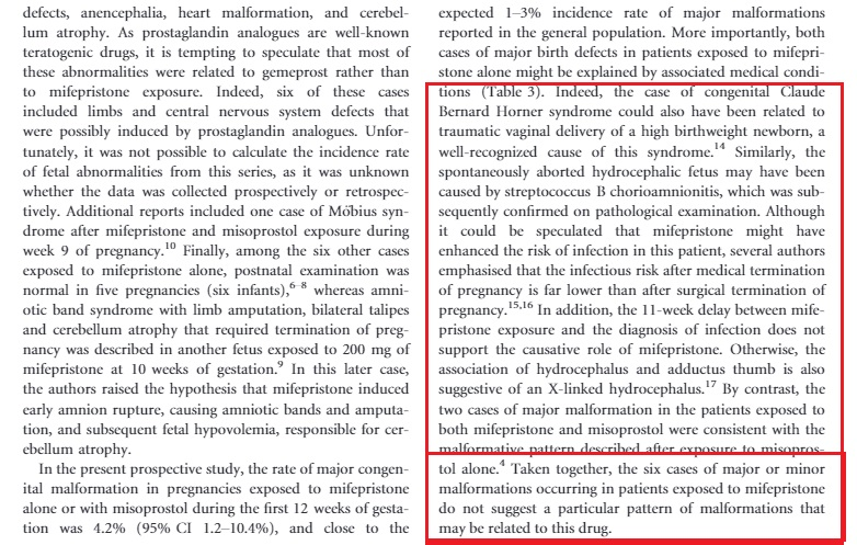 Image: BJOG Mifeprex abortion pill malformation study 2013