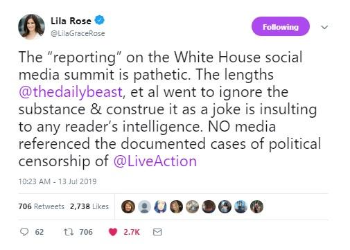 Lila Rose criticizes Daily Beast report of prolife social media summit