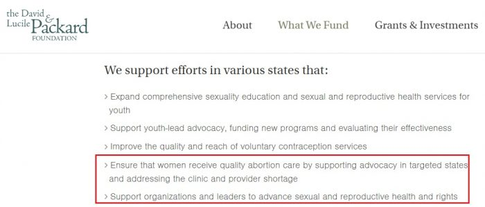 Image: Packard Foundation goal to expand abortion US accessed 7/5/2019