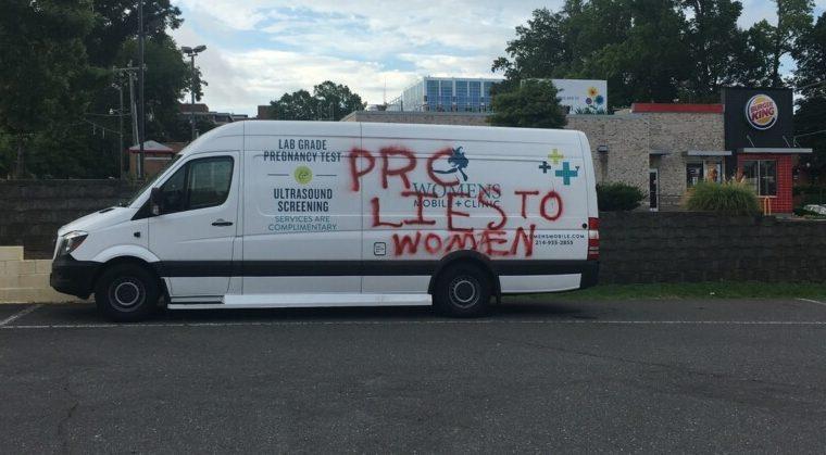 pro-life van vandalized