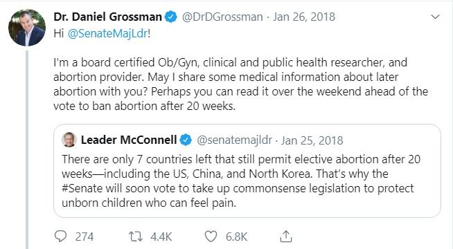 Image: Daniel Grossman abortion provider (Image: Twitter)