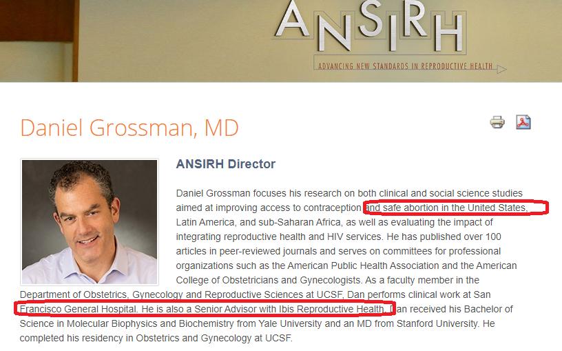 Image: Daniel Grossman is director at ANSIRH