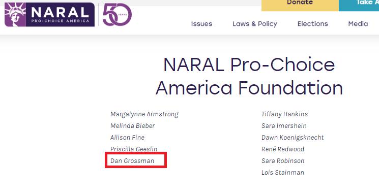 Image: Daniel Grossman is on board of NARAL