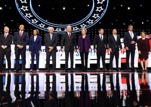 At presidential debate, Democrats unite: No rights for human beings in the womb