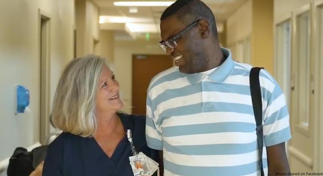 nurse takes in autistic man