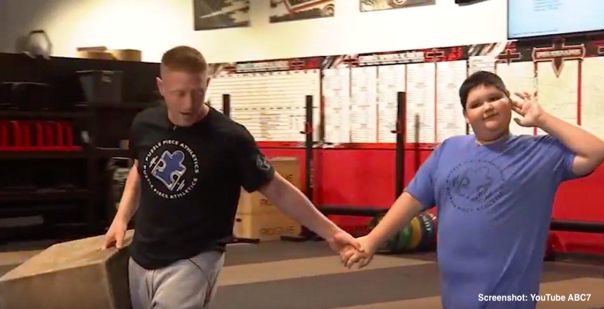 screenshot ABC 7 autism gym