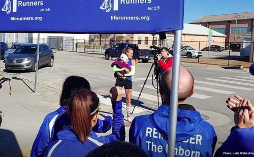AMAZING: Pro-life mom of three breaks running record while pushing stroller