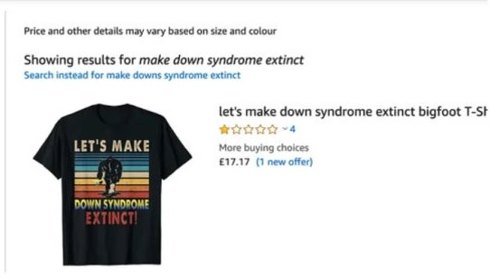 down syndrome amazon screenshot