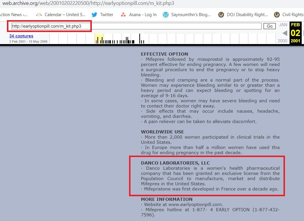 Danco website Feb 2001