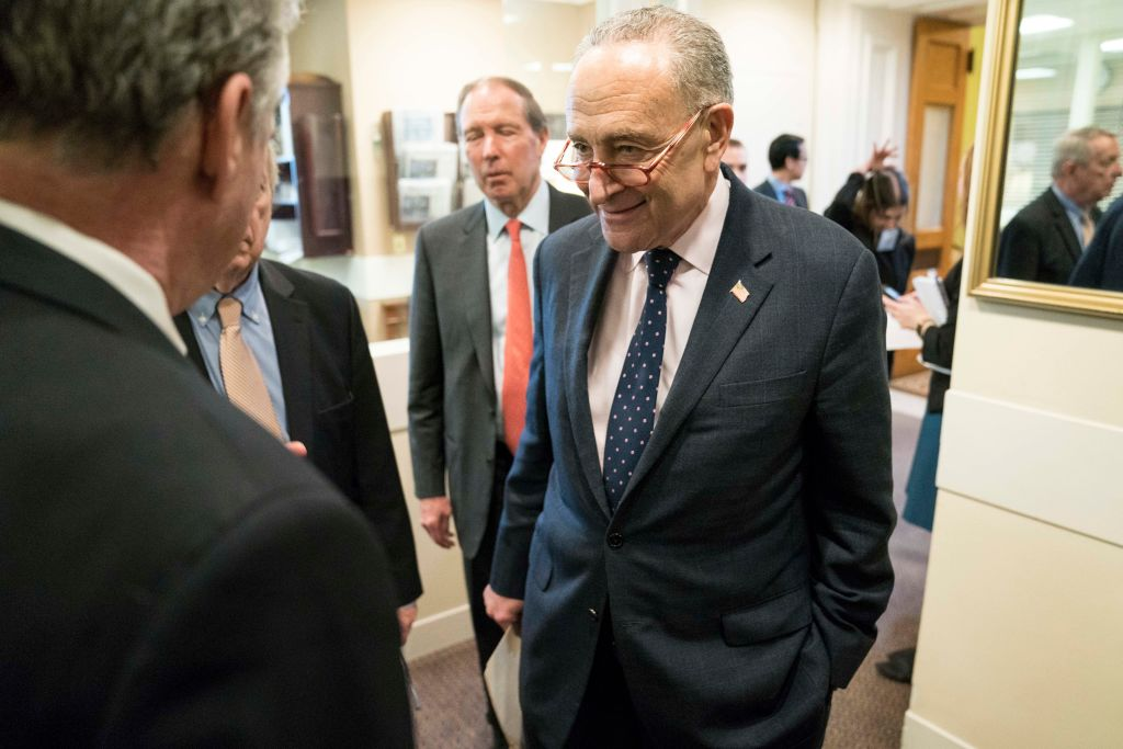 Senate Democrats Hold Press Conference After War Powers Resolution Vote On Iran