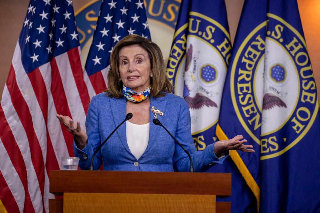Speaker Pelosi Speaks To Members Of Press During Weekly Briefing