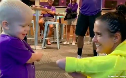 'God put me here for a reason': Soccer star with limb difference meets very special fan