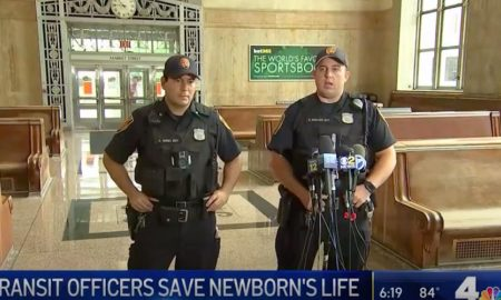 newborn, New Jersey officers