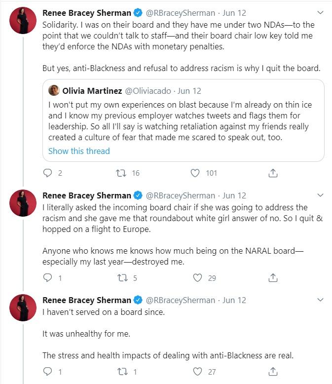 Former NARAL staffer Renee Bracey Sherman accuses NARAL of racism Image Twitter
