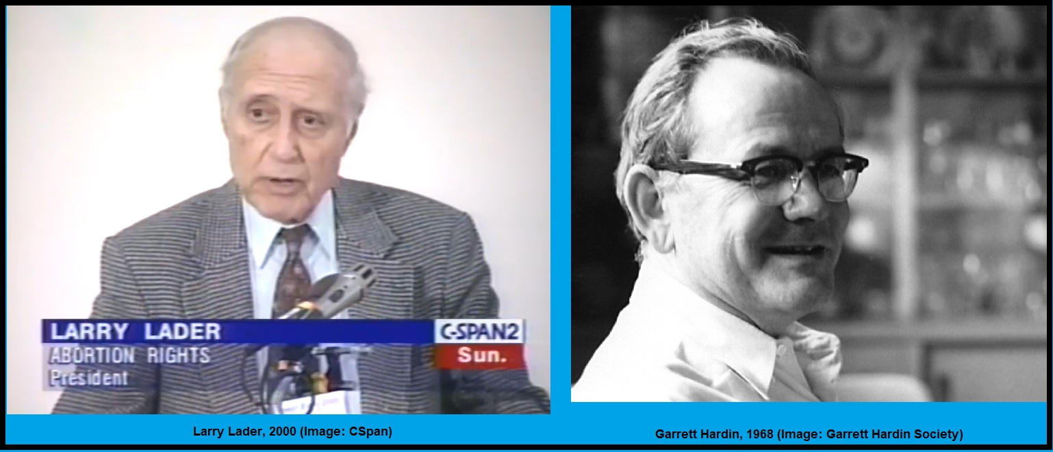 Image: Larry Lader and Garrett Hardin NARAL founders