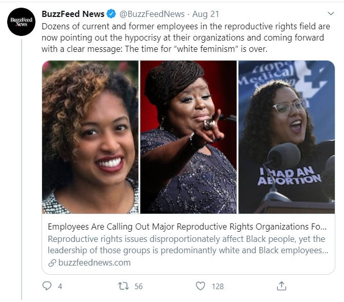 Planned Parenthood staffers call out open racism to Buzzfeed News Image Twitter