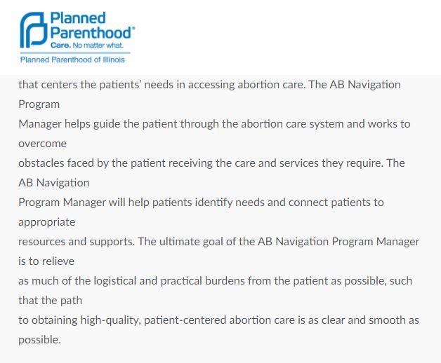 abortion navigation program manager