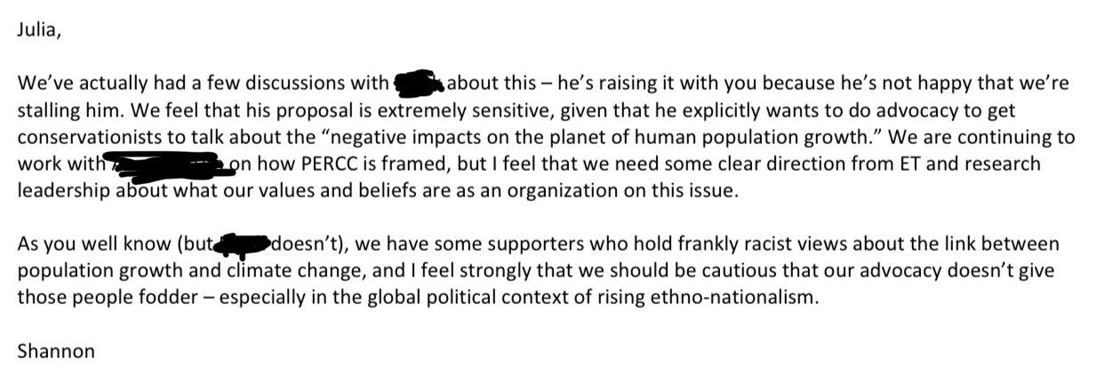 Shannon Harvey tweet on Population Council Racism. 2jpg