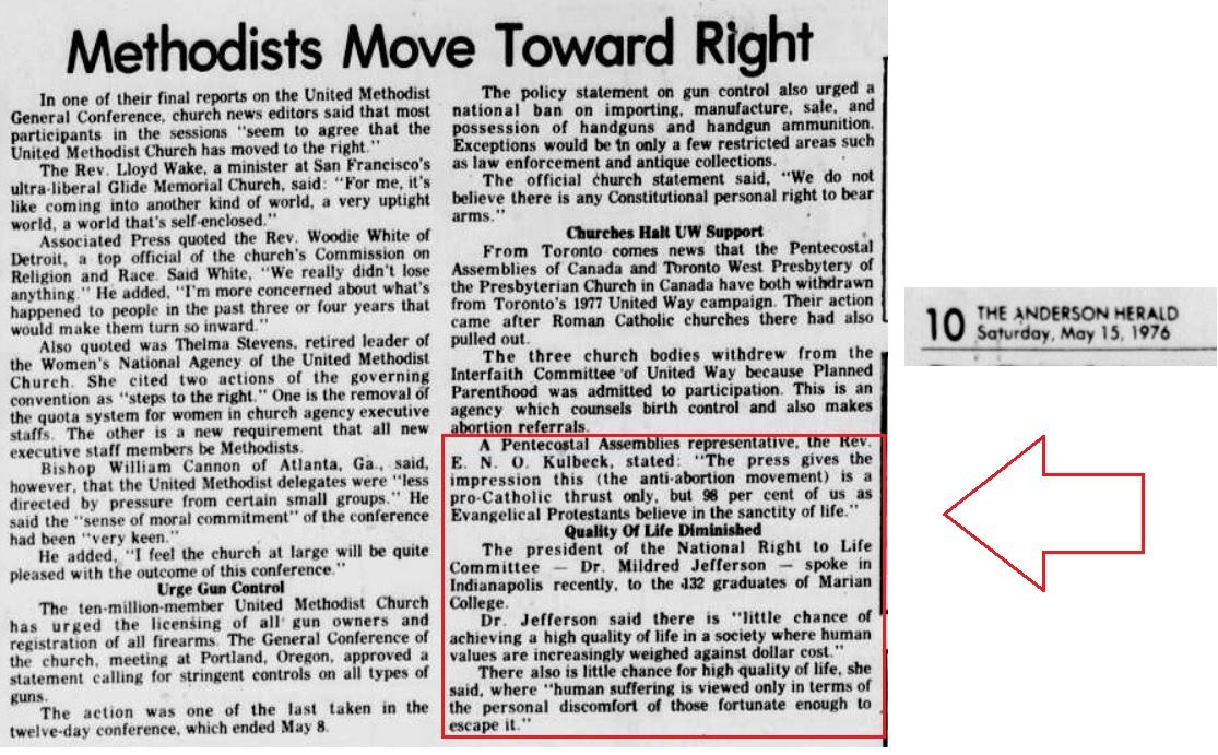 1976 Pentecostals oppose abortion