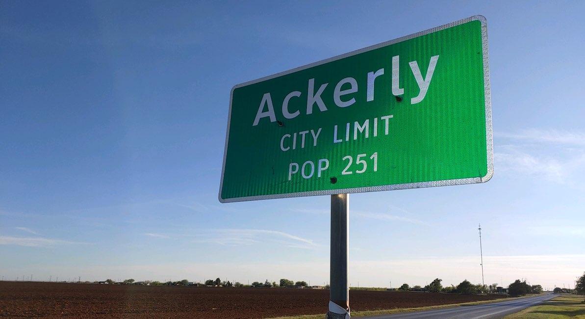 ackerly texas mark lee dickson