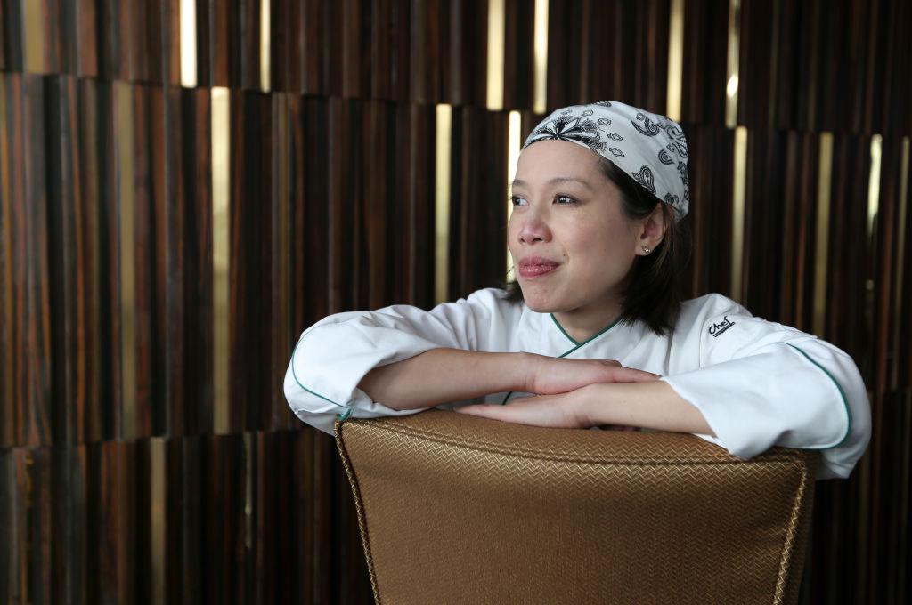 Chef Christine Ha poses for a portrait at Ritz Carlton's Ozone, Hong Kong. 27JUN17 SCMP / Xiaomei Chen