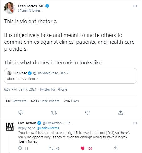Torres tweet terrorism