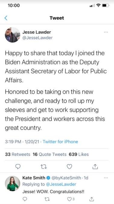 Jesse Lawder Planned Parenthood St Louis Staffer now in Biden Admin Image Twitter