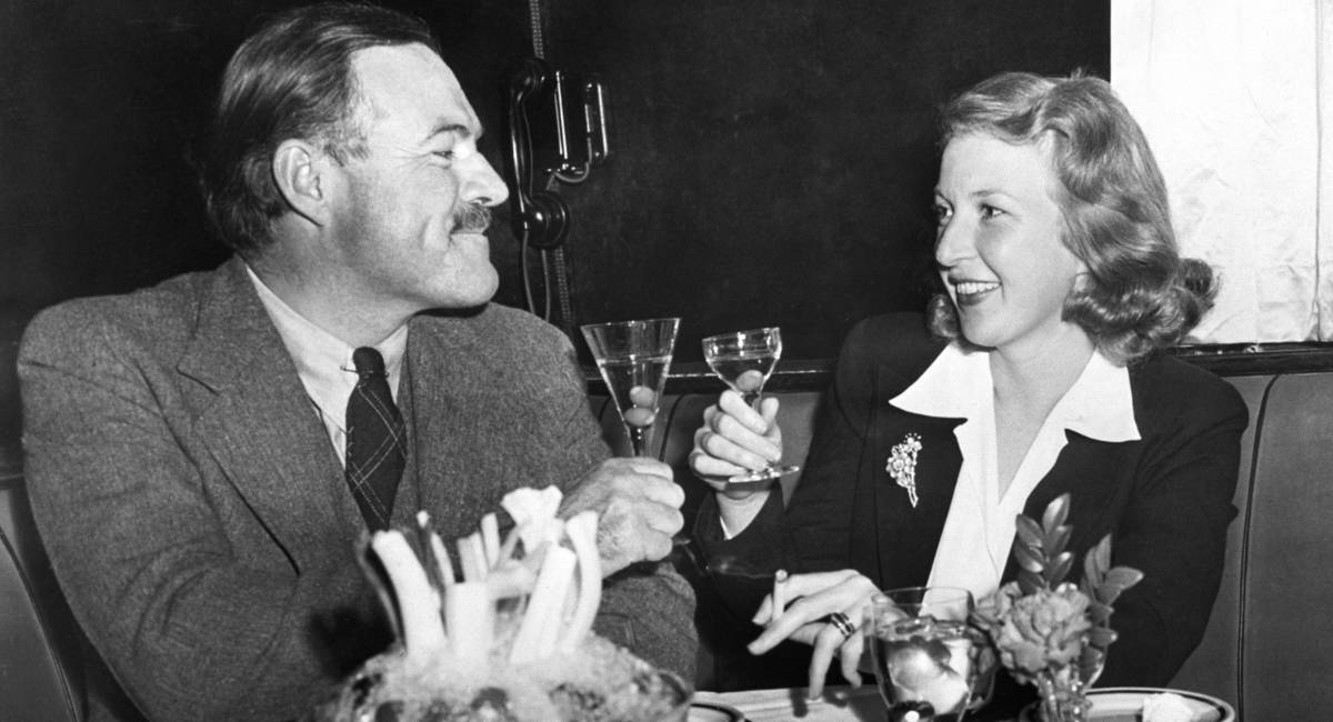 Ernest Hemingway and Martha Gelhorn Make a Toast