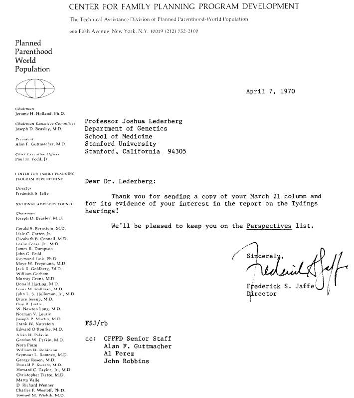 ACOG President Howard C Taylor sat on Guttmacher Board as Center for Family Planning