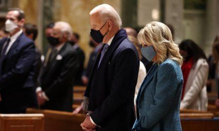Biden, church, Communion